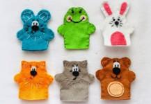как сделать пальчиковые игрушки из фетра