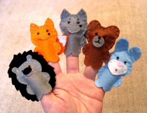 Игрушки на пальчик своими руками