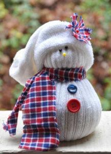 Игрушка на новый год. Снеговик своими руками (11 )