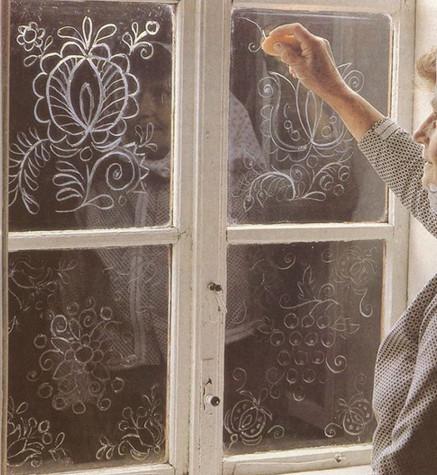 Новогодний узор на окна
