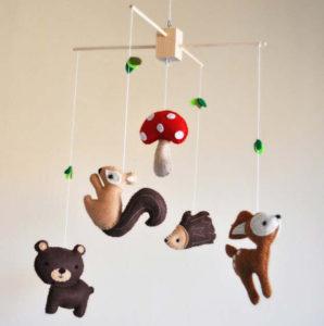 Игрушки для детей от 0 до 1 года .Мобиль для кроватки своими руками. (12)