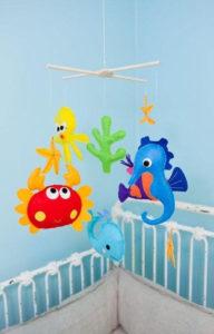 Игрушки для детей от 0 до 1 года .Мобиль для кроватки своими руками. (18)