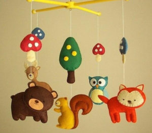 Игрушки для детей от 0 до 1 года .Мобиль для кроватки своими руками. (20)