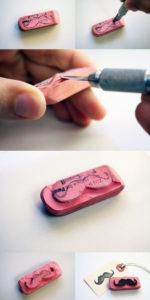 Игрушки для девочек и мальчиков. Как сделать штамп своими руками (21)