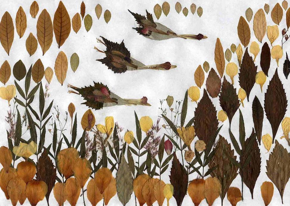 Картины из осенних листьев своими руками 39