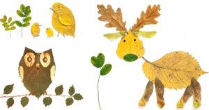 Игрушки для досуга. Картины из осенних листьев (28)