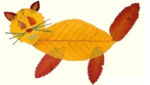Игрушки для досуга. Картины из осенних листьев (34)