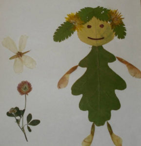 Игрушки для досуга. Картины из осенних листьев (36)