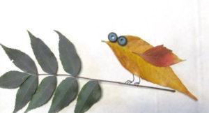 Игрушки для досуга. Картины из осенних листьев (37)
