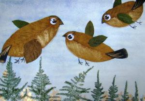 Игрушки для досуга. Картины из осенних листьев (38)