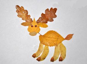 Игрушки для досуга. Картины из осенних листьев (39)