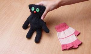 Игрушки из перчаток своими руками. Как сшить котёнка (1)