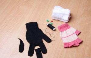 Игрушки из перчаток своими руками. Как сшить котёнка (3)
