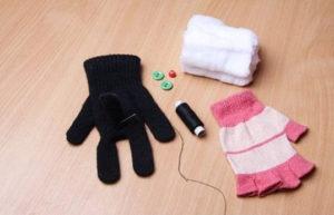 Игрушки из перчаток своими руками. Как сшить котёнка (5)