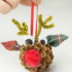 Игрушки на елку своими руками 2016. Что сделать из шишек на Новый год (16)