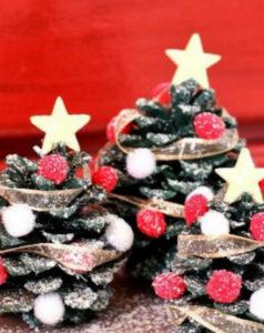 Игрушки на елку своими руками 2016. Что сделать из шишек на Новый год (30)