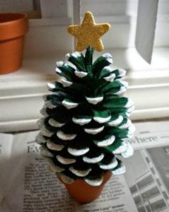Игрушки на елку своими руками 2016. Что сделать из шишек на Новый год (31)