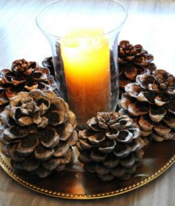 Игрушки на елку своими руками 2016. Что сделать из шишек на Новый год (4)