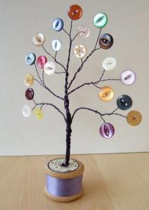 Игрушки на елку своими руками 2016. Идеи из пуговиц (15)