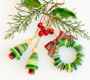 Игрушки на елку своими руками 2016. Идеи из пуговиц (17)