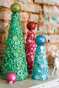 Игрушки на елку своими руками 2016. Идеи из пуговиц (4)