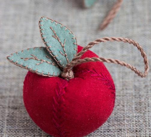 Сшить яблоки из ткани 81
