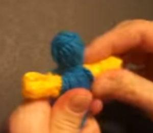 Кукла из ниток своими руками для детей. Игрушки мотанки (16)