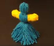 Кукла из ниток своими руками для детей. Игрушки мотанки (19)
