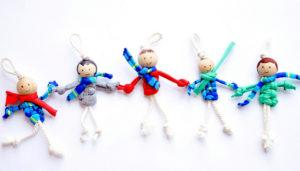 Маленькие куколки для девочек. Плетение из веревки своими руками (20)