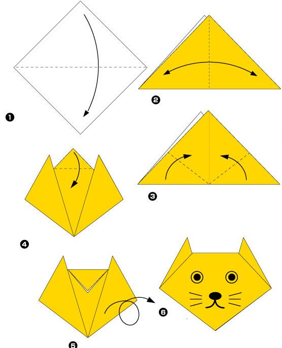 Котенок своими руками из бумаги