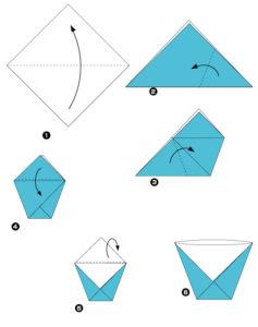 Простые оригами из бумаги для детей (2)