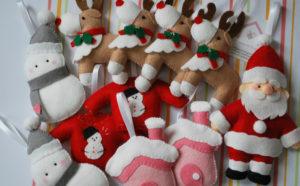 Ёлочные игрушки из фетра (10)