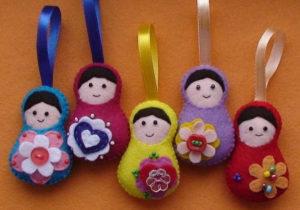 Ёлочные игрушки из фетра (24)