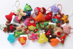 Ёлочные игрушки из фетра (9)
