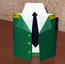 К 23 февраля своими руками. Из бумаги для детей детского сада (18)