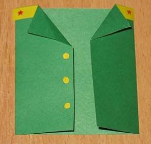 К 23 февраля своими руками. Из бумаги для детей детского сада (21)