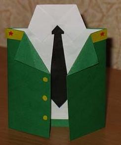 К 23 февраля своими руками. Из бумаги для детей детского сада (22)