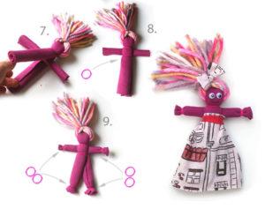 Как сделать куклу из ткани (3)