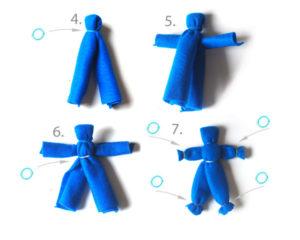 Как сделать куклу из ткани (44)