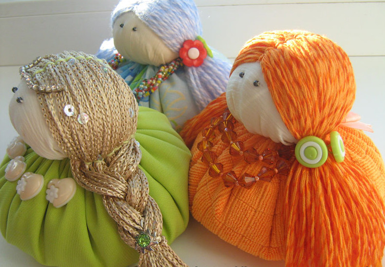 Куклы с крупой