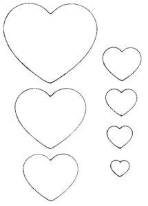 Подарок на 14 февраля своими руками. Выкройки сердечек (6)