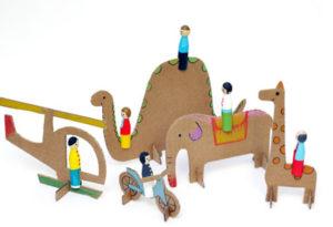 Как сделать из картона игрушки (2)