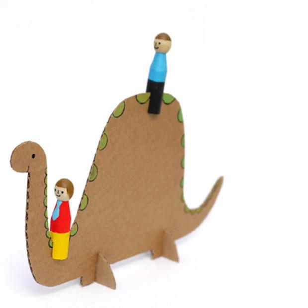 Как сделать игрушку для детей динозавры
