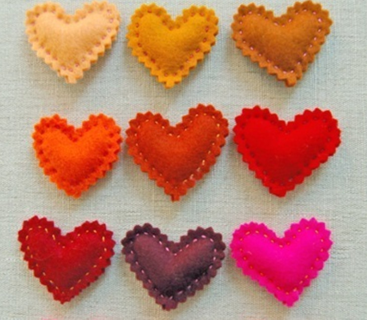 Мягкие сердечки своими руками фото