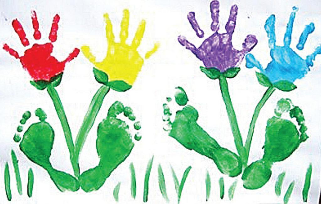 Открытка пальчиковыми красками на день рождения 14