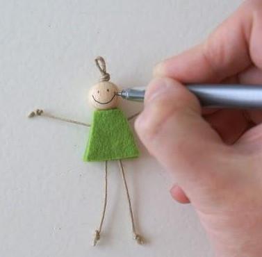 Как сделать куколку.