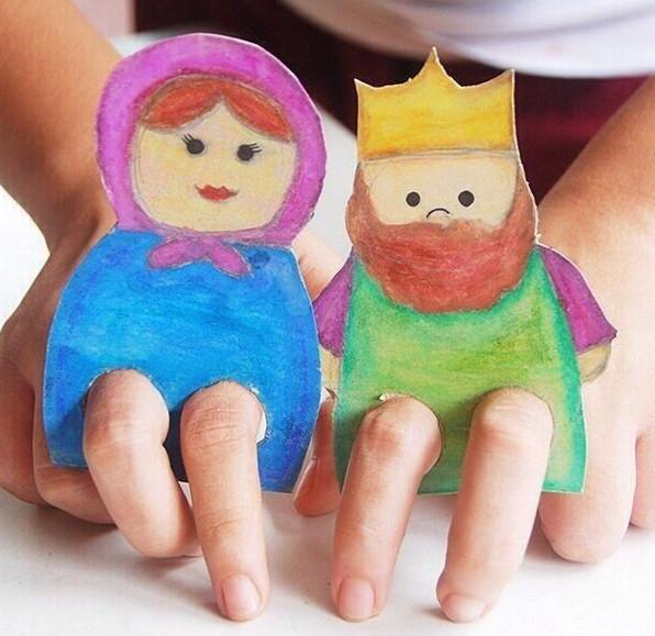 Пальчиковые игрушки из бумаги
