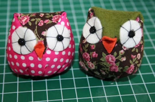 Птички из ткани