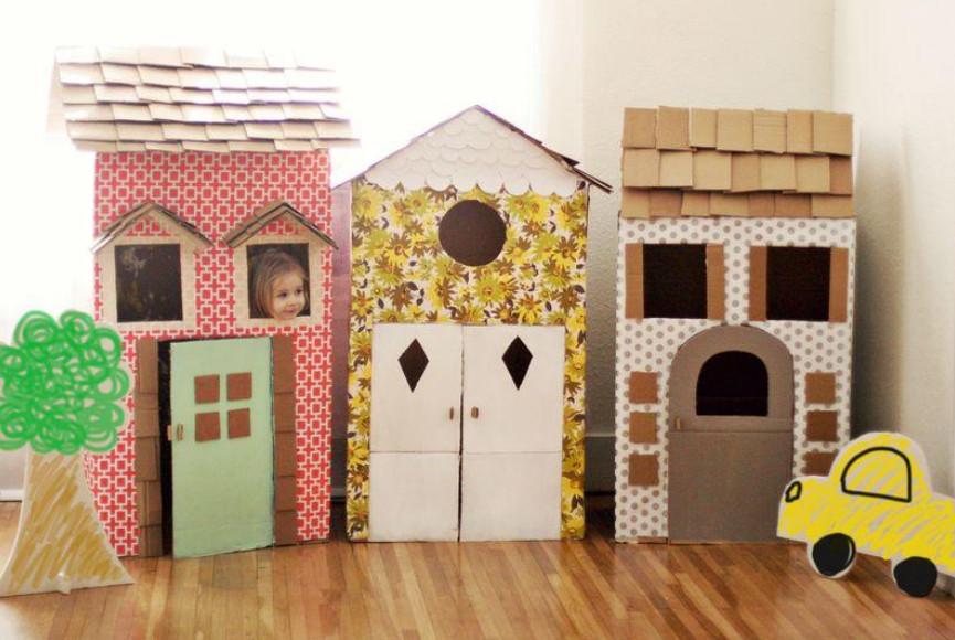 Детские домики из подручных