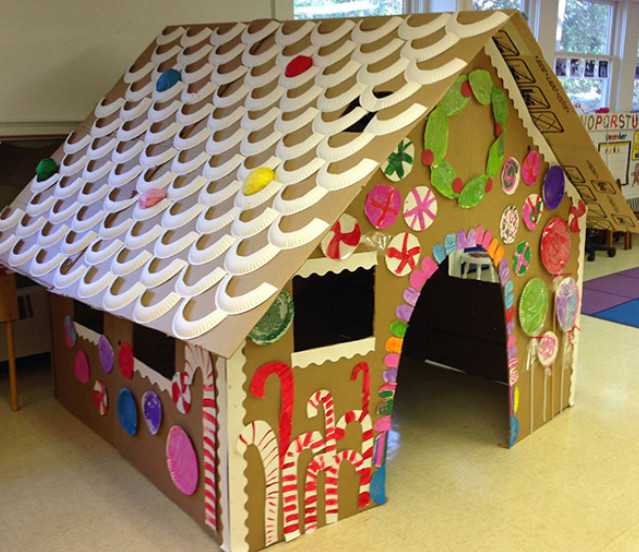 Сделать домик из картона своими руками